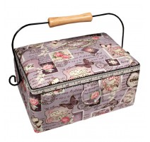 Sewing Box - Roses and Stamps