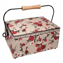 Sewing Box - Autumn Roses (Medium)