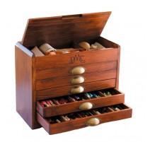 Wooden Collectors Box + 465 Mouliné DMC Threads