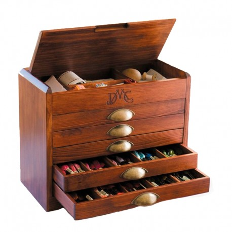 Mueble Organizador + 465 Madejas Mouliné DMC
